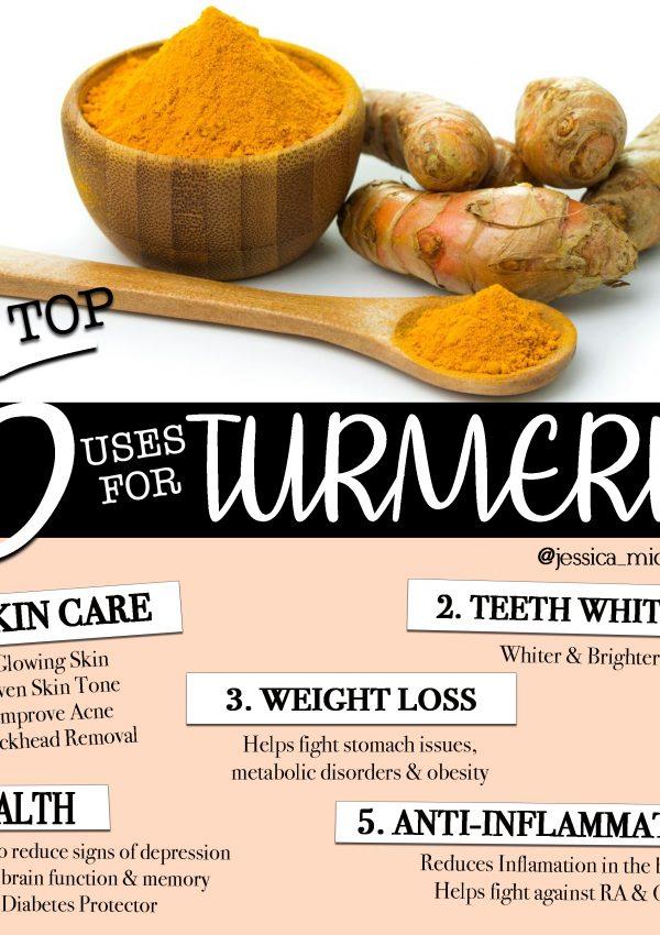 MY TOP 5 USES FOR TURMERIC