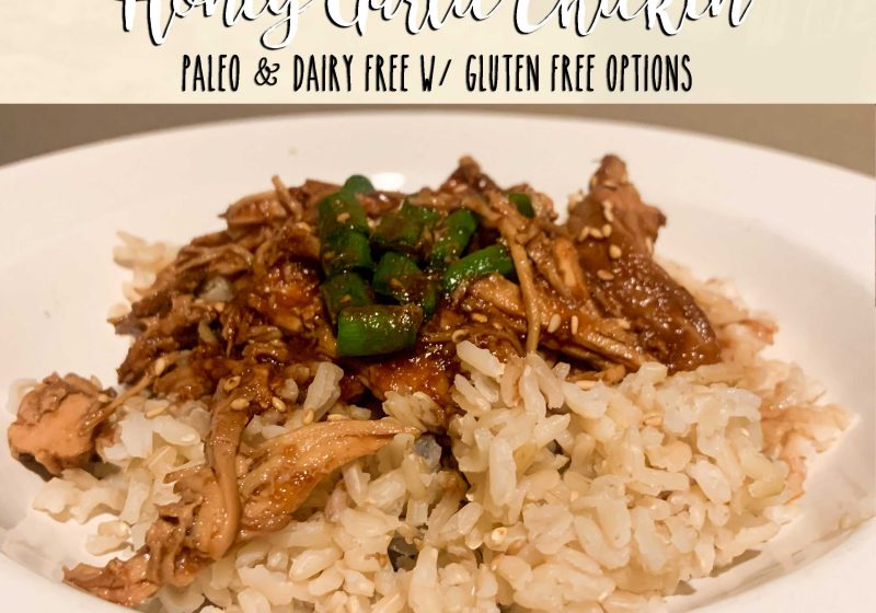 Honey Garlic Crockpot Chicken, 7 ingredients, gluten free option