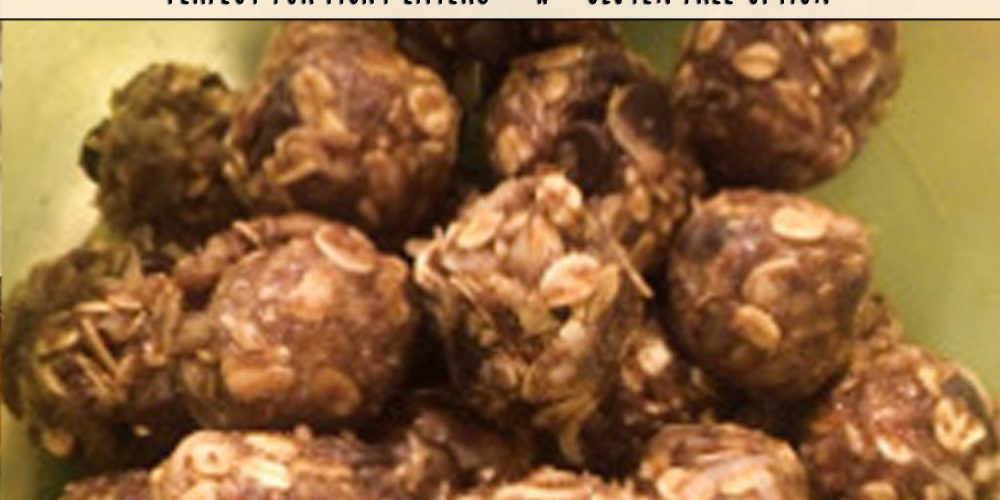healthy no bake peanut butter balls, gluten free options