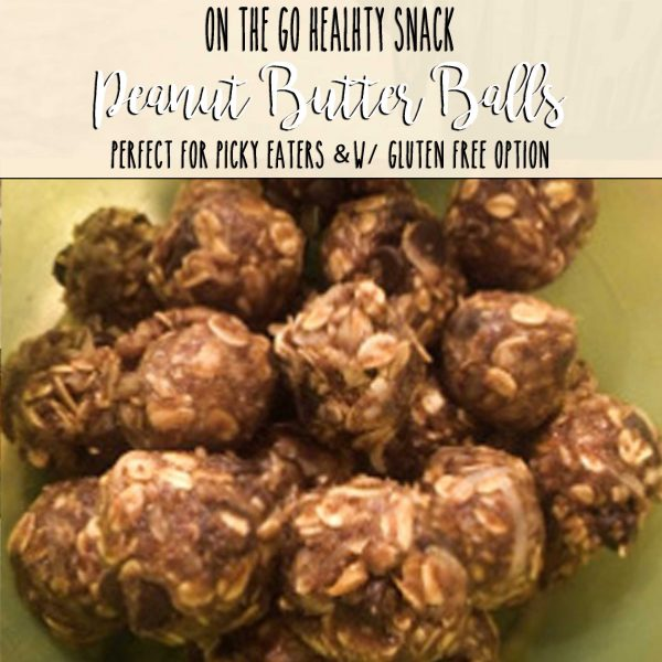 healthy no bake peanut butter balls, gluten free options