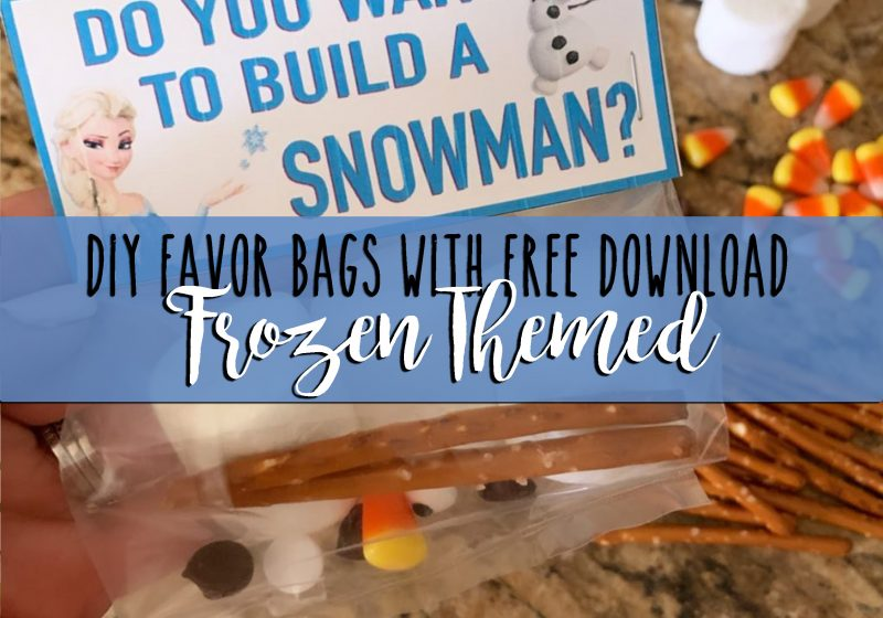 diy favor bags with free download frozen themed