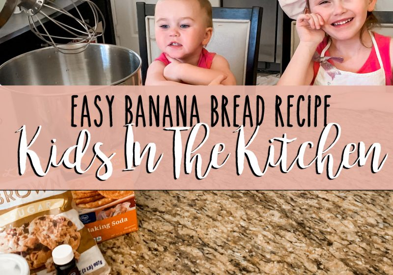 quick and easy kid friendly banana bread recipe