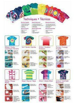 tie dye pattern ideas