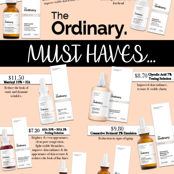 top picks from the ordinary skin care
