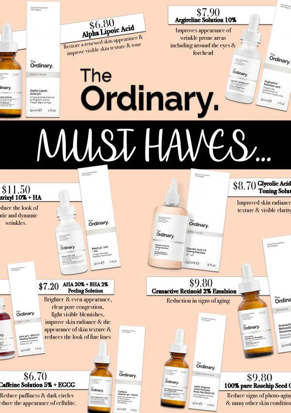 The Ordinary – Must Haves under $15