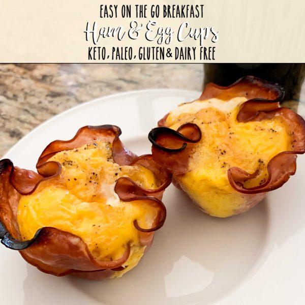 keto, paleo, gluten & dairy free ham & egg cups