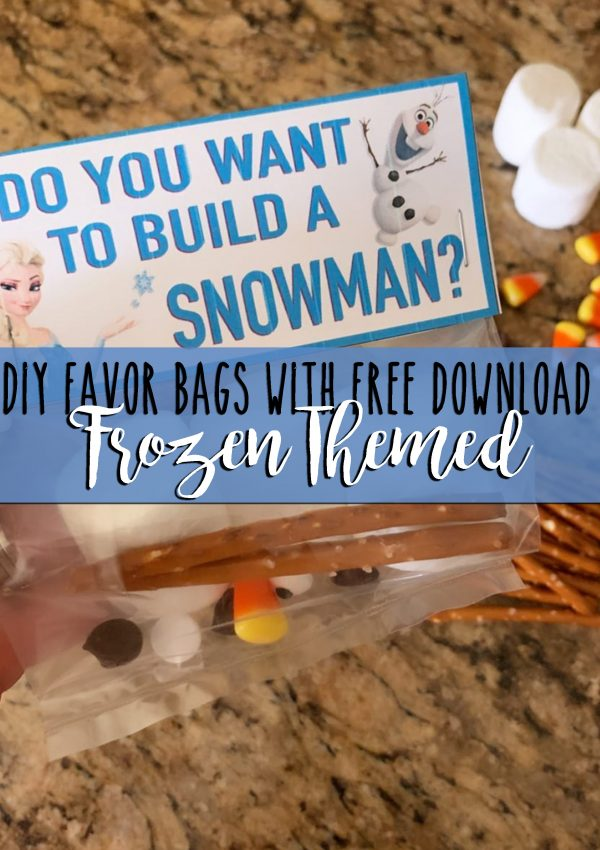 Easy DIY Frozen Party Favor Bags with free download