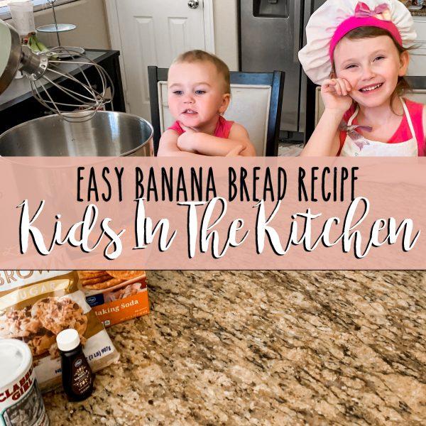 quick and easy kid friendly banana bread recipe